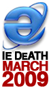 iedeathmarch2009badge IE 6 Death   March 2009